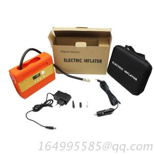 Lighter Plug In Type 12V Mini Air Pump Tire Inflator With Led Light