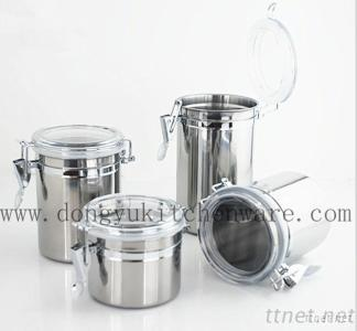 Stainless Steel Sealable Tanks, Set Of 4 PCS