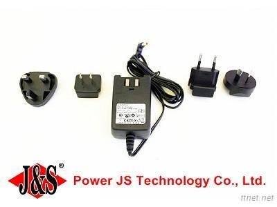 12V/1A Interchangeable Plug Power Adapter