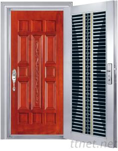 safety stainless steel single leaf double swing doors jh327