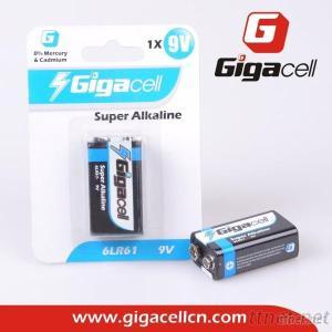 Super Alkaline Battery 9V 6LR61 Alkaline Battery