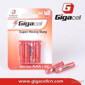 Super Heavy Duty Carbon Battery R03 AAA Size Battery