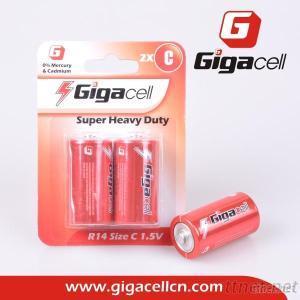 Size C Battery Carbon Zinc UM2 R14 Battery