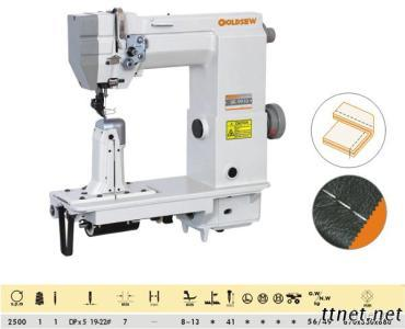 Single-Needle Post Bed With Wheel Feed Needle Feed And Driver Roller Presser Lockstitch Sewing Machine