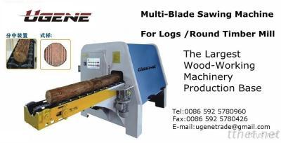 Wood Sawing Cutting Machine Tools Producter Multi-Blade Sawing Machine For Logs, Round Timber Mill