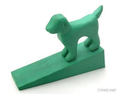 Door Stop-Dog (Green)