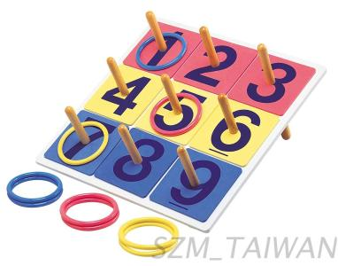 Ring Toss Game Set with Board, Number Plate, Ring and Stand