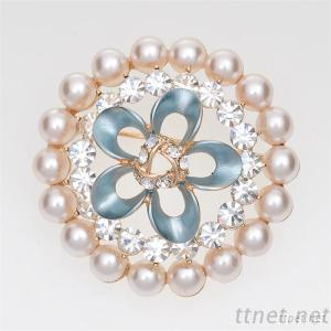 Jewelry Pearl Brooches With Crystal
