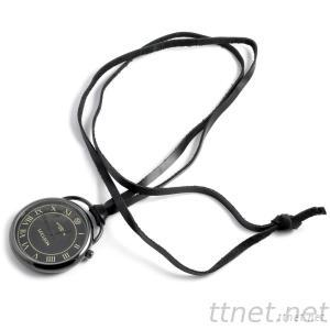 Genuine Leather Lanyard Necklace Watch
