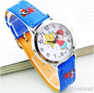 Promotional PU Leather Kids Watches