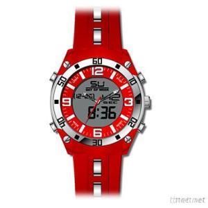 LCD Sport Watch For Man Quartz Watch Sillicone Band Wath