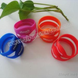 Silicon RFID Wristband With Chip For Amusement Park