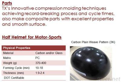 Thermoplastic Composite Helmet