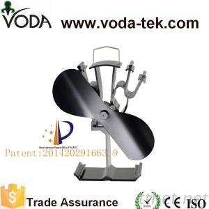 VODA black ecofan self powered wood burning stove top fan,log burning stove fan