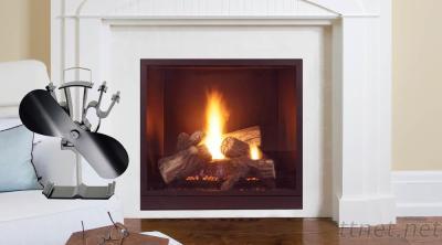 2-Bladed Stove Fan Aluminum Alloy Fireplace Fan