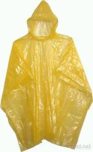 Disposable PE Water-Proof Adult Raincoat