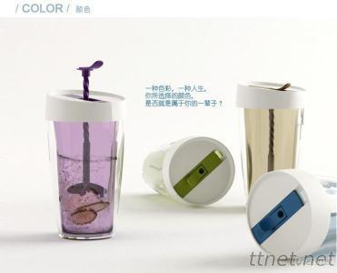 360Ml Mixer Plastic Tumbler