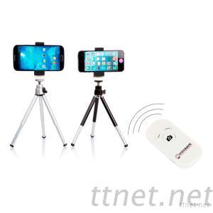 Extendable Tripod Stand Holder with Bluetooth Camera Remote Shutter for Smartphone