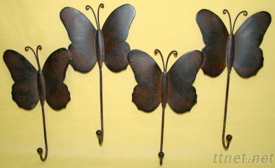 Metal Iron Butterfly Shape Wall Hook