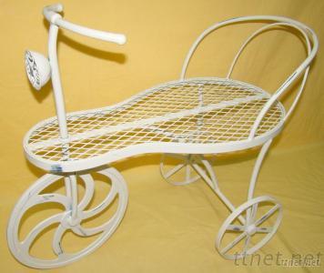 Iron White Garden Cart