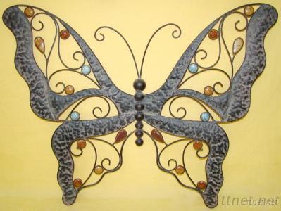 Metal Iron Butterfly Shape Wall Decor