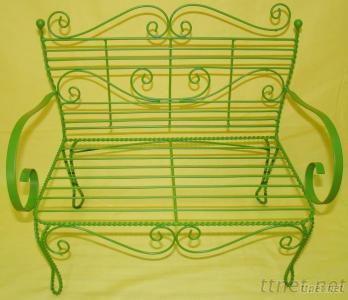 Iron Green Small Chair Garden Flower Pot