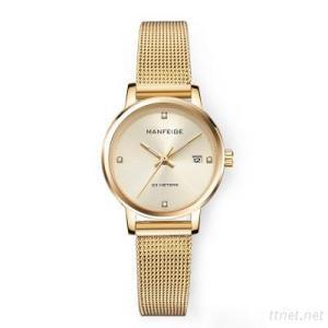 Women Watch, Lady Calendar Stainless Steel Business Quartz Watch