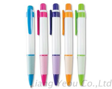 Fat Shaft White Color Ball Pen Creative Multicolor Advertising Pen