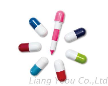 Creative Multicolor Pill Design Retractable Capsule Pen can be customized LOGO