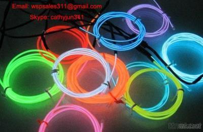 Flexible Neon Light EL Wire Rope Tube With EL Inverter