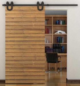 6.6FT TSQ06Black Horseshoe Barn Door Hardware For Interior Doors