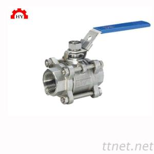 cf8 ss304 600 wog bsp thread 3pc ball valve with lockable