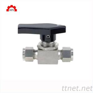 stainless steel double ferrules compression type instrumentation ball valve