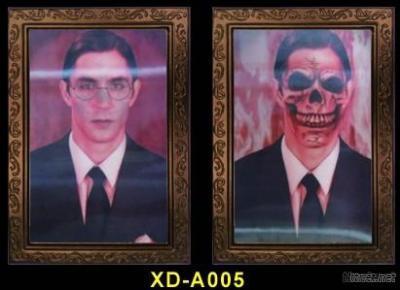 Wholesale 3D Ghost Skull Skeleton Lenticular Image Album Photo Picture For Halloween Craft Art Prop