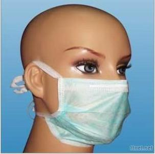 2 PLY Non Woven Face Mask With Tie Or Earloop