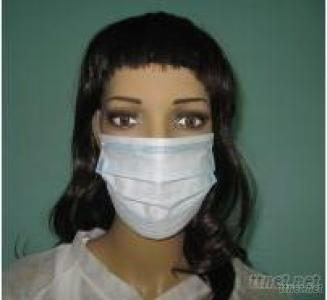 Disposable 3 PLY Non Woven Face Mask With Tie Or Earloop