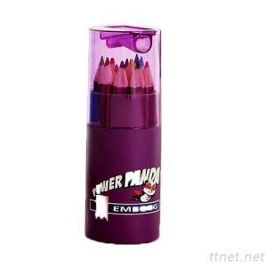 Colored Pencil Tube With Sharpener, Pencil, Colored Pencil, Cartoon Pen, Child Pen, Advertising Pen, Gift Pen, Promotional Pen, Pen Set