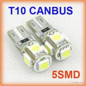 12V Canbus T10 5050 5Smd5Led 5050Smd W5W, 194, T10 Car Led Lights Car, Auto Led Lamp 18-20Lm