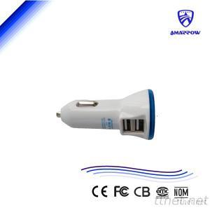 5V 2.1A Dual USB Car Charger For Cellphone Pad Suitable With Good Packaging