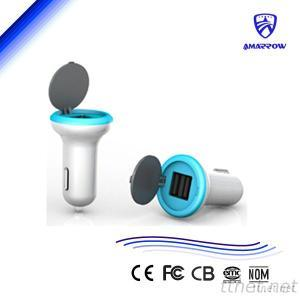 15W 5V Dual USB Car Charger for Phone Pad 2.1/1A