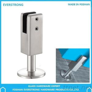 EVERSTRONG ST-P006 Stainless Steel Adjustable Toilet Partition Fitting Floor To Glass Panel Leg Support