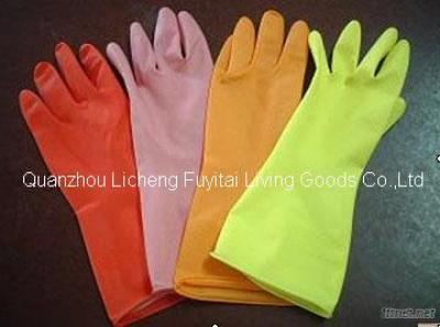 Household Latex Glove With Flocking At Cheap Price Good Quality
