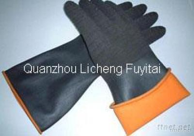 Thick Latex Working Glove With Double Colors At Low Price