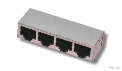 RJ45 8P8C -4PORTS-TH -J012