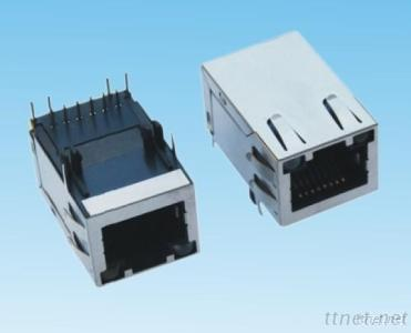 1X1 Gigabit RJ45 Connector With Transformer TAB-UP