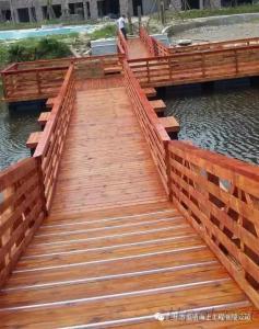 Landscape floating bridge