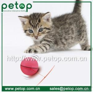 Wholesale plastic led pet products plush cat toy ball