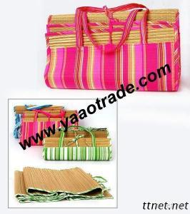 Folding Straw Beach Mat