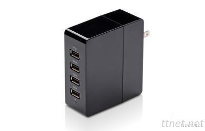 4 Port AC USB Charger 5V 2A for Tablet Mobile Phone