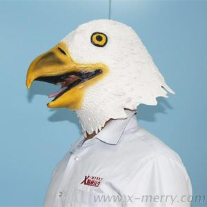 X-MERRY Rubber Latex Animal Mask Bald American Eagle Mask Party Fancy Dress Halloween